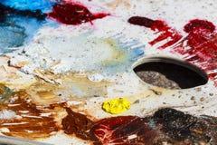 Palet del color de aceite Imágenes de archivo libres de regalías