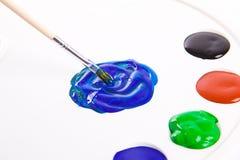 Palet het schilderen Stock Foto's