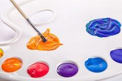 Palet het schilderen Royalty-vrije Stock Afbeelding