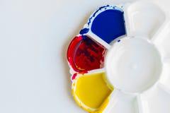 Palet, kunst van kleur Stock Foto