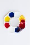 Palet, kunst van kleur Stock Foto's