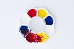 Palet, kunst van kleur Royalty-vrije Stock Foto's
