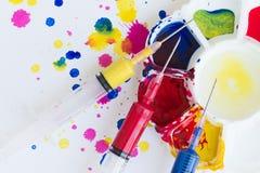 Palet, kunst van kleur Royalty-vrije Stock Afbeeldingen