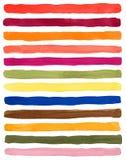 Palet van de waterverf het artistieke kleur De in zomer van 2019 van de kleurenlente royalty-vrije illustratie
