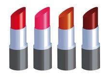 Palet van Lippenstiften Stock Afbeeldingen