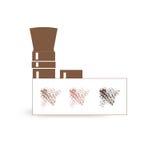 Palet van poeder met een borstel Royalty-vrije Stock Fotografie