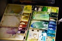 Palet voor het schilderen Stock Foto