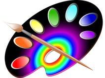 Paleta Imagen de archivo libre de regalías