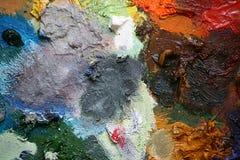 Paleta 5 de los artistas imagen de archivo libre de regalías