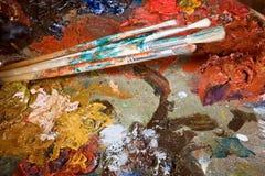 Paleta abstracta Fotografía de archivo libre de regalías
