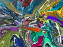 Paleta abstracta de los pintores Fotos de archivo