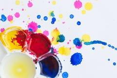 Paleta, arte da cor Imagens de Stock