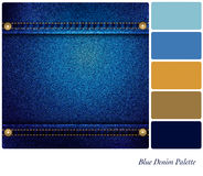 Paleta azul da sarja de Nimes Imagens de Stock