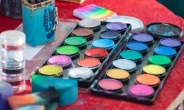 paleta colorida Fotos de Stock