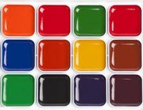 Paleta colorida brilhante da aquarela Imagens de Stock