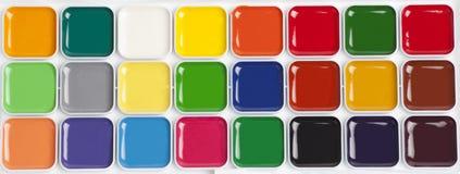 Paleta colorida brilhante da aquarela Foto de Stock