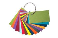 Paleta colorida do cartão, guia da cor, amostras de papel, catálogo da cor Fotografia de Stock