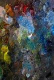 Paleta com pinturas imagens de stock royalty free