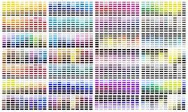 Paleta da amostra de folha da referência da cor ilustração stock
