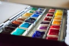 Paleta 1 da aquarela Imagem de Stock