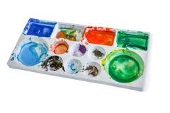 Paleta da cor de água Imagem de Stock