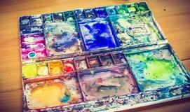 Paleta da cor de água Fotografia de Stock Royalty Free