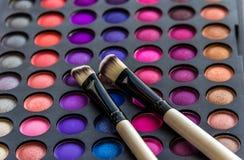Paleta das sombras para os olhos com escova Foto de Stock