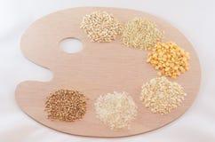Paleta de cereales Foto de archivo libre de regalías