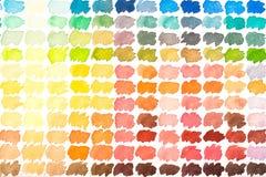 Paleta de color con los watercolours rojos, amarillos, azulverdes y ora Fotos de archivo