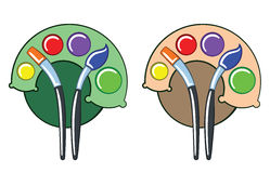 Paleta de colores como árbol Imágenes de archivo libres de regalías