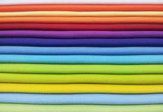 Paleta de colores de la tela Fotografía de archivo