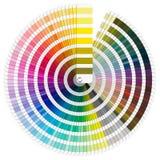 Paleta de colores de Pantone stock de ilustración