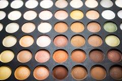 Paleta de colores del pastel de la sombra de ojos fotos de archivo libres de regalías