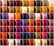 Paleta de colores del pelo tintes foto de archivo
