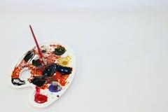 Paleta de colores del ` s del artista Fotos de archivo libres de regalías