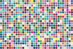 Paleta de colores del vector 726 diversos colores stock de ilustración