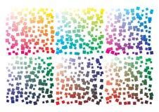 Paleta de colores del vector en el formato A4 Los detalles ca?tico dispersaron libre illustration