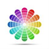 Paleta de colores en el fondo blanco Foto de archivo libre de regalías