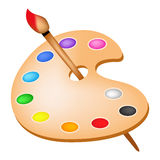 Paleta de cor Fotografia de Stock