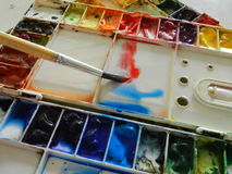 Paleta de cor Fotografia de Stock Royalty Free