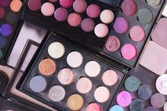 A paleta de cora e sombras Fotos de Stock Royalty Free