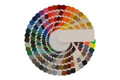 Paleta de cores com várias amostras foto de stock