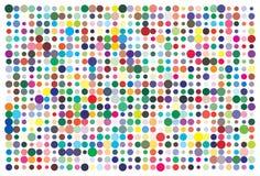 Paleta de cores do vetor 726 cores diferentes ilustração stock