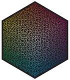 Paleta de cores do vetor Muitas luas diferentes da cor na forma do teste padrão do hexágono ilustração do vetor
