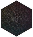 Paleta de cores do vetor Muitas luas diferentes da cor na forma do teste padr?o do hex?gono ilustração royalty free
