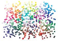 Paleta de cores do vetor no formato A4 Os detalhes dispersaram caoticamente ilustração do vetor