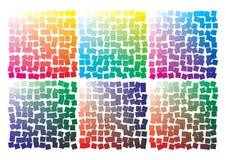 Paleta de cores do vetor no formato A4 Os detalhes dispersaram caoticamente ilustração stock