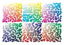 Paleta de cores do vetor no formato A4 Os detalhes dispersaram caoticamente ilustração royalty free