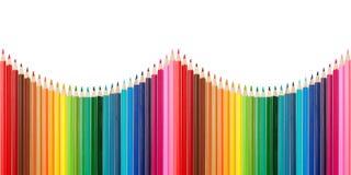 Paleta de cores feita de lápis coloridos foto de stock royalty free
