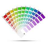 Paleta de cores isolada no fundo branco ilustração do vetor